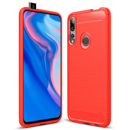 Flexi Slim Carbon Fibre Case for Huawei Y9 Prime (2019) - Red